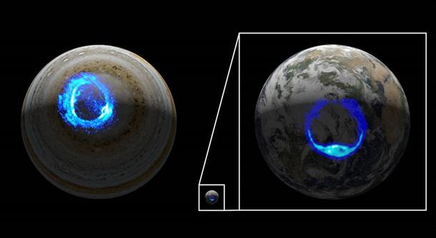 На Юпитере зафиксировали грандиозную световую бурю 1